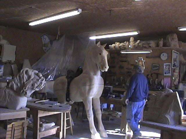 Special commision Percheron War Horse in the shop