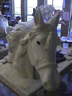 Day 44 Carving the tassels - Pretty Horse!